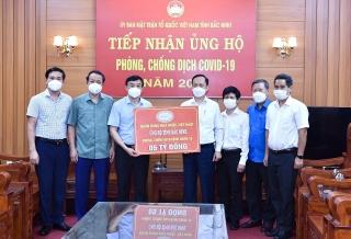 NHNN Việt Nam ủng hộ hai tỉnh Bắc Ninh và Bắc Giang phòng, chống dịch COVID-19