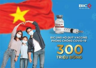 BIC trao 300 triệu đồng cho Quỹ vắc-xin phòng COVID-19
