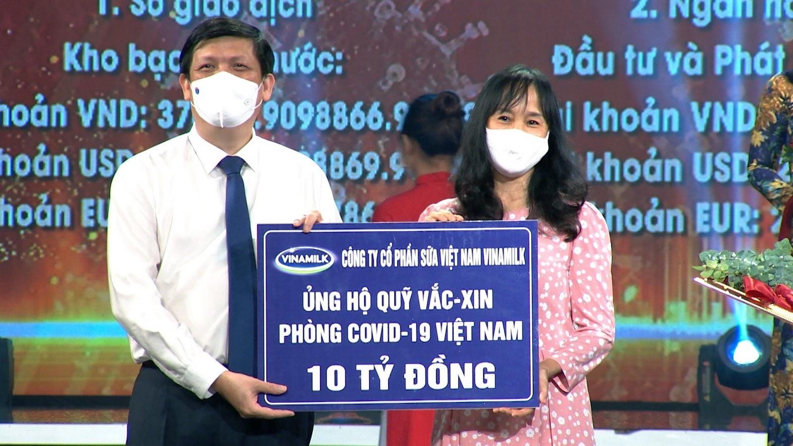 vinamilk chung tay cung chinh phu gop quy vaccine phong covid 19