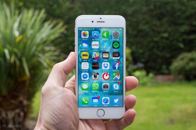 iphone 6s van duoc nang cap ios 15
