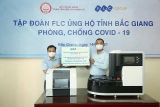 Tập đoàn FLC trao tặng Bắc Giang 3 hệ thống xét nghiệm COVID-19 trị giá gần 9 tỷ đồng