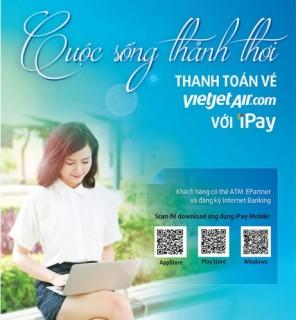 Thanh toán vé máy bay Vietjet Air trực tuyến qua iPay
