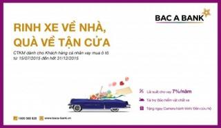 """""""Rinh xe về nhà, quà về tận cửa"""" cùng BAC A BANK"""