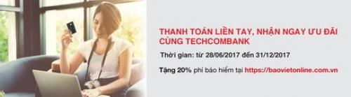 Ưu đãi siêu hấp dẫn dành cho chủ thẻ Techcombank