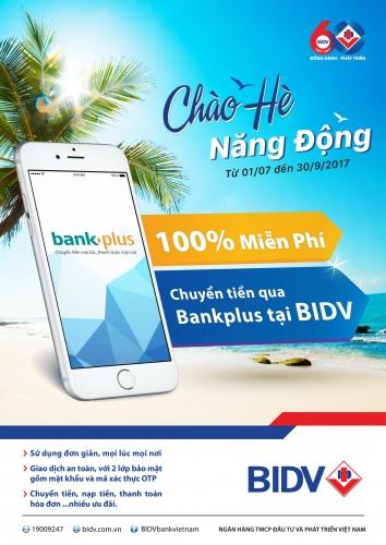 BIDV miễn phí chuyển tiền qua Bankplus