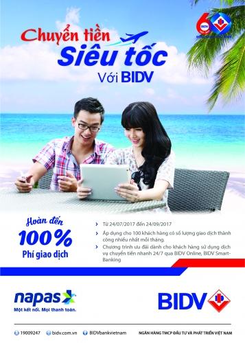BIDV miễn phí chuyển tiền siêu tốc qua BIDV e-Banking