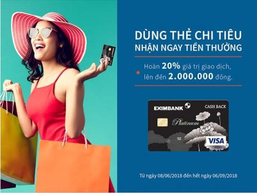 Eximbank ra mắt thẻ tín dụng quốc tế mới