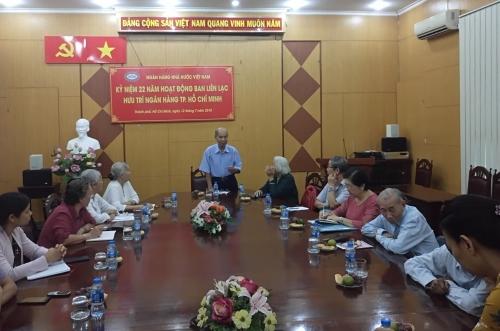 Cán bộ hưu trí Ngân hàng họp mặt tại TP.Hồ Chí Minh