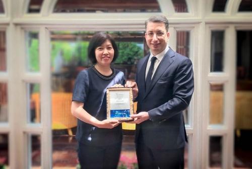 Vietcombank được trao giải thưởng chất lượng thanh toán quốc tế xuất sắc