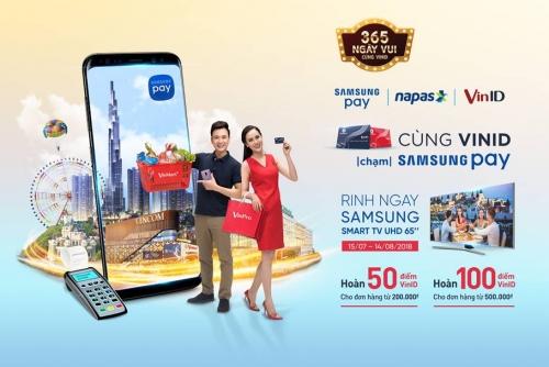 Thanh toán Samsung Pay tại Vingroup có cơ hội trúng SmartTV