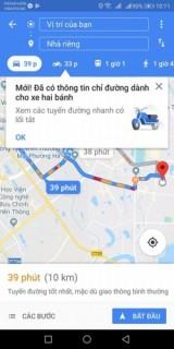 Cuối cùng thì Google Maps cũng hỗ trợ dẫn đường cho xe máy tại Việt Nam