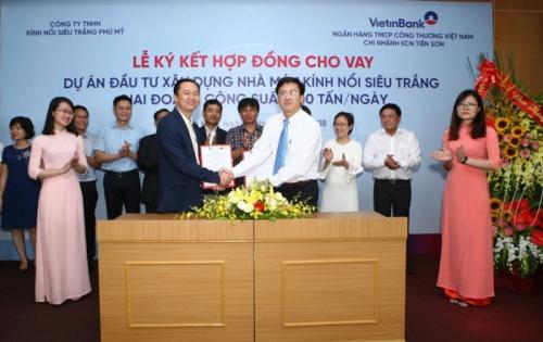 VietinBank đầu tư hơn 1.500 tỷ đồng cho Dự án sản xuất kính nổi siêu trắng