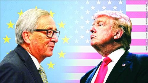 Mỹ, EU nhất trí giảm căng thẳng thương mại