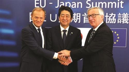 EU bắt tay thương mại với Nhật Bản