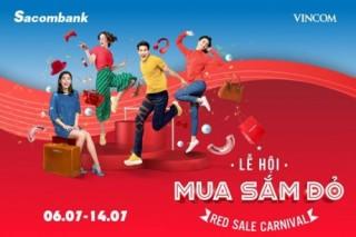 Chủ thẻ Sacombank tận hưởng ưu đãi lớn khi mua sắm tại Vincom