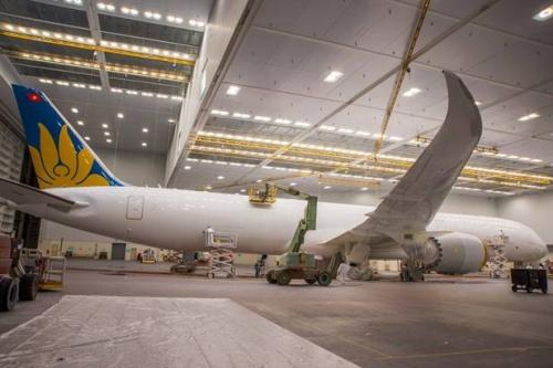 Những hình ảnh đầu tiên chiếc Boeing 787-10 của Vietnam Airlines