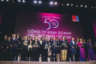"""Tập đoàn Đất Xanh được vinh danh """"Top 50 công ty kinh doanh hiệu quả nhất Việt Nam năm 2019"""""""