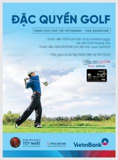 Ưu đãi miễn phí và hoàn tiền khi sử dụng dịch vụ tại sân Golf Hoàng Gia và CenGolf