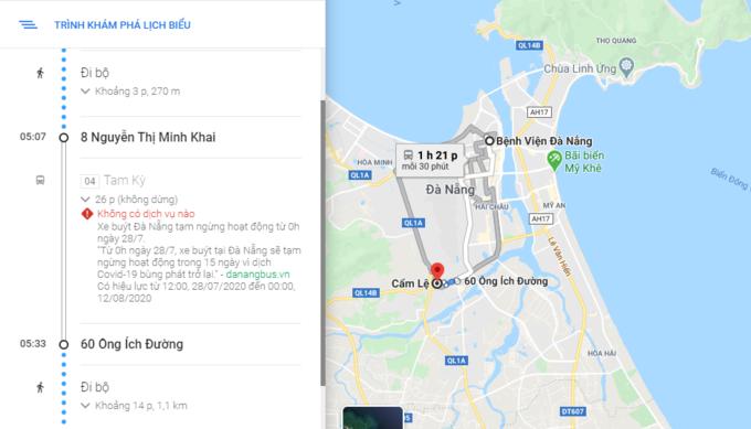 Google Maps thêm tính năng cảnh báo tại Đà Nẵng