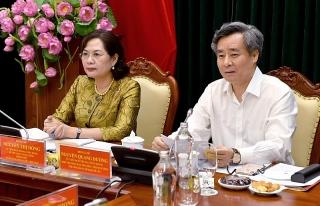 Ban Cán sự Đảng NHNN làm việc với Ban Chỉ đạo xây dựng Đề án sửa đổi, bổ sung Quy định của Ban Bí thư