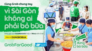 Grab Việt Nam mang bữa ăn đến với người khó khăn trong đại dịch COVID-19