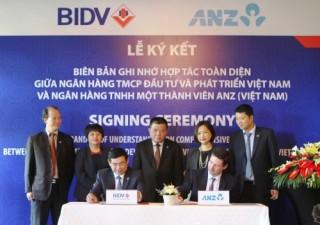 BIDV ký kết hợp tác toàn diện với ANZ Việt Nam