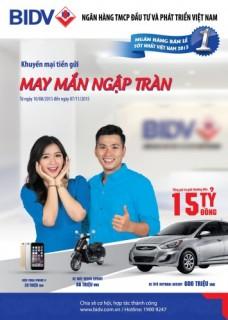 Cơ hội trúng xe ô tô HuynDai Accent 2015 khi gửi tiền tại BIDV