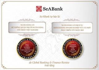 SeABank nhận 2 giải thưởng của GBAF