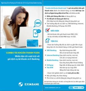 """Eximbank ra mắt sản phấm mới """"Combo tài khoản thanh toán"""""""