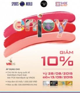 Chiết khấu 10% cho chủ thẻ VietinBank tại Vin Department Store