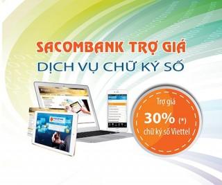 Ưu đãi đăng ký nộp thuế điện tử tại Sacombank