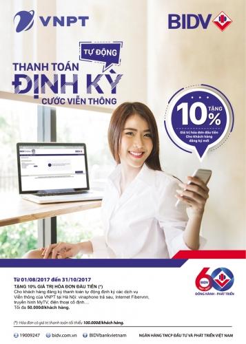 Cơ hội được giảm 10% giá trị hóa đơn của VNPT Vinaphone Hà Nội