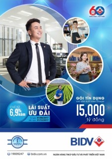 BIDV triển khai gói tín dụng 15.000 tỷ đồng cho vay ưu đãi SXKD