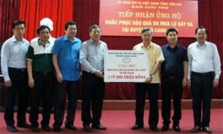 Công đoàn Ngân hàng Việt Nam: Chia sẻ khó khăn với đồng bào Yên Bái
