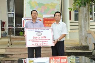 Ngành Ngân hàng hỗ trợ khắc phục hậu quả thiên tai tại Sơn La