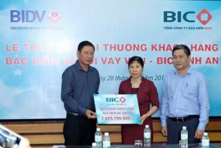 BIC chi trả hơn 2 tỷ đồng tiền bảo hiểm cho khách hàng tại Khánh Hòa