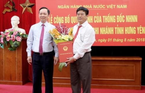 NHNN bổ nhiệm Giám đốc NHNN Chi nhánh tỉnh Hưng Yên