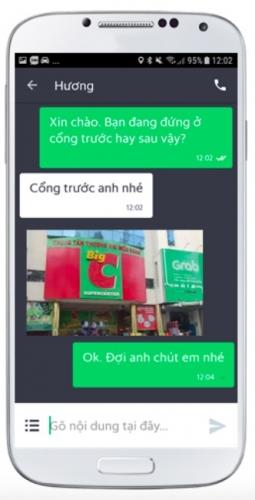 Grab giới thiệu tính năng GrabChat - tin nhắn ảnh