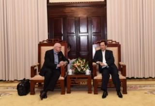 Phó Thống đốc Đào Minh Tú tiếp Giám đốc điều hành đại diện Nhóm nước Ngân hàng AIIB