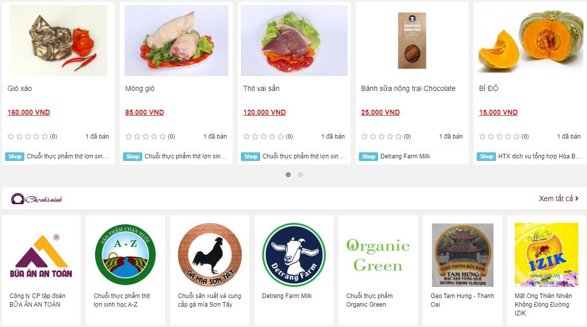 Chợ thương mại nông sản điện tử: Kênh mua sắm mới của người Hà Nội