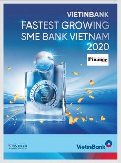 """VietinBank nhận giải """"Ngân hàng SME phát triển nhanh nhất Việt Nam 2020"""""""