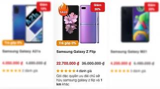 Giá Galaxy Z Flip giảm hơn 10 triệu đồng