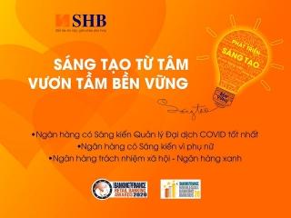 SHB được vinh danh 3 giải thưởng quốc tế uy tín