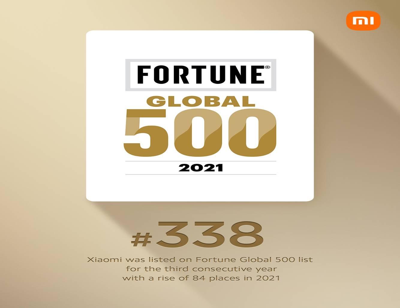 xiaomi thang hang trong danh sach fortune global 500