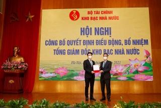 Chánh Văn phòng Bộ Tài chính được bổ nhiệm Tổng giám đốc Kho bạc Nhà nước