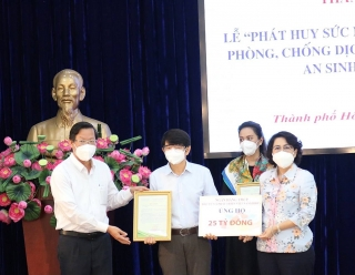 BIDV tiếp tục ủng hộTP.Hồ Chí Minh 25 tỷ đồng