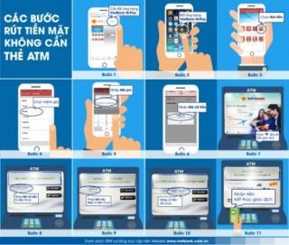 Làm sao rút tiền mặt khi không có thẻ ATM?