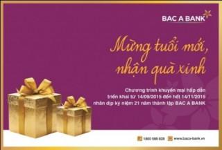 """Cùng BAC A BANK """"Mừng tuổi mới, Nhận quà xinh"""""""