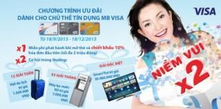 Niềm vui nhân đôi dành cho chủ thẻ MB Visa