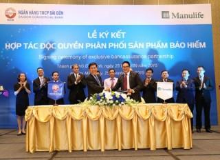 SCB độc quyền phân phối sản phẩm bảo hiểm của Manulife Việt Nam